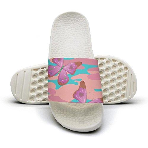 HSJDAPOCOAQ Butterfly pink camo indoor flip flops for women by HSJDAPOCOAQ