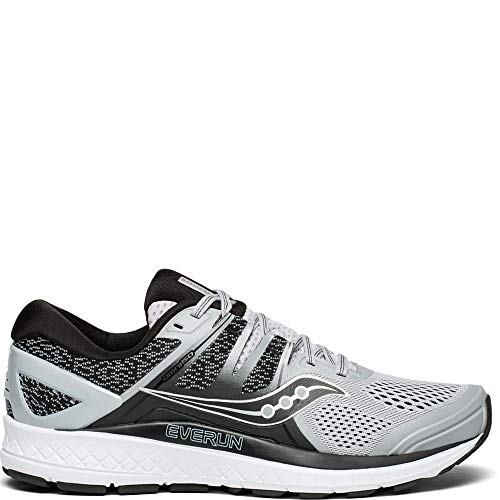 Saucony Men's Omni ISO Shoes, Grey/Black, 10.5