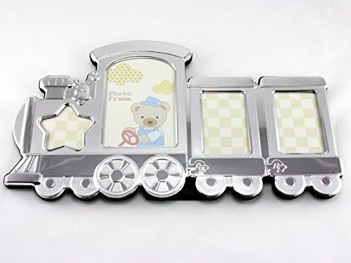 Skyway Train Baby Picture Photo Frame Keepsake Silver - Engravable (Engravable Train)