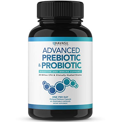 Havasu Nutrition Prebiotics and Probiotics for Women and Men as Digestive Enzyme Support; Non-GMO, 60 Vegetarian…