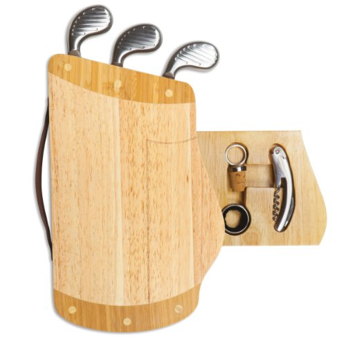 TOSCANA - a Picnic Time Brand Caddy Cheese Board and Tool Set -  914-00-505-000-0
