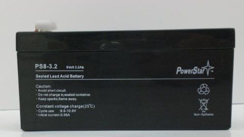 Used, PowerStar PS-832-17 8V 3.2Ah Quantum Turbo Battery for sale  Delivered anywhere in USA