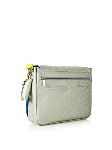 BREE Collection Punch, Borsa a tracolla donna grigio Gris / Amarillo