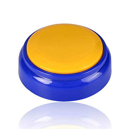 (Neutral Sound Button-Voice Recording Button-Recordable Talking Button 30 Second-Answer Buzzers for Funny Novelty Office Desk Gag Gift Custom That was Easy Button(Yellow+Blue))