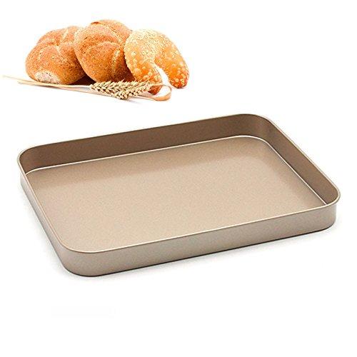 【ネット限定】 カーボンスチールBaking pan-nonstick Square pan-nonstick Bakeware B07CBJ88BX Roastingトレイ Square、ゴールド B07CBJ88BX, ばねのコンビニ倶楽部:fb584278 --- lanmedcenter.ru