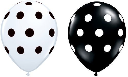 (24 Assorted Black and White Polka Dot)