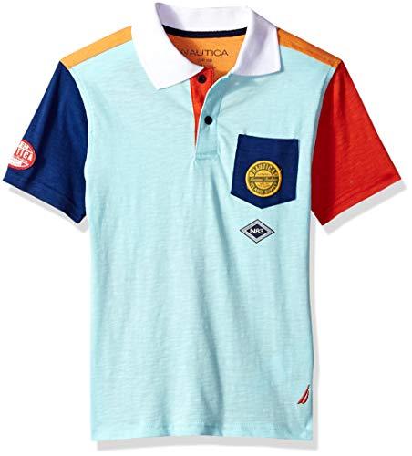- Nautica Little Boys' Short Sleeve Heritage Polo Shirt, Taro Paradise, Medium (5)