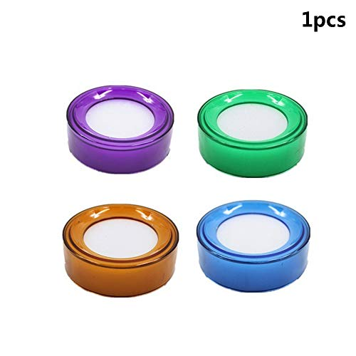 - Xeminor 2 Pcs Practical Office Count Wet Finger Sponge Round Case Container (Random Color)