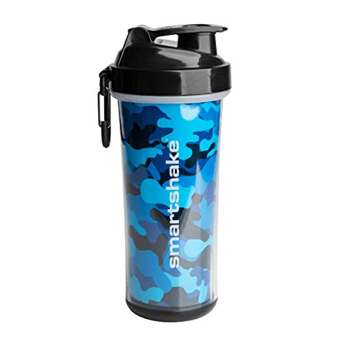 Smartshake Double Wall, 25 oz Shaker Cup, Camo Blue (Packaging May Vary)