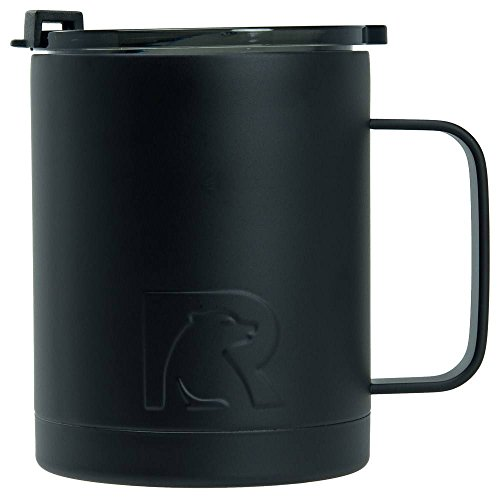RTIC Double Wall Vacuum Insulated 12oz Coffee Cup (Black) by RTIC