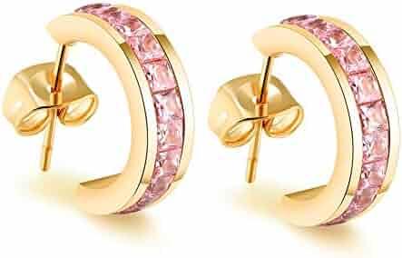 48094d3dfb728 Shopping Pinks - Under $25 - Hoop - Earrings - Jewelry - Women ...