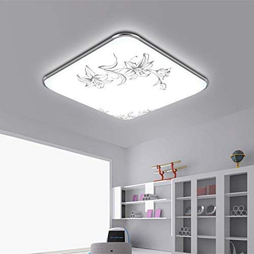 Creative Table Lamp Desk Lamp Ceiling Lamp rectangular remote control big Living Room Lighting Bedroom Light dining Room Lamp balcony Lamp, flower 6543 highlight white 48w Using for Reading, Working by OVIIVO (Image #2)