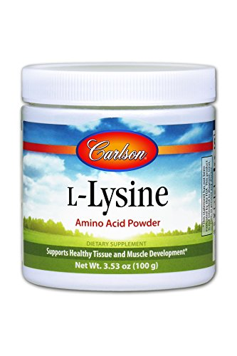 Carlson L Lysine Powder 960 mg, Amino Acid Powder, 100 g Jar