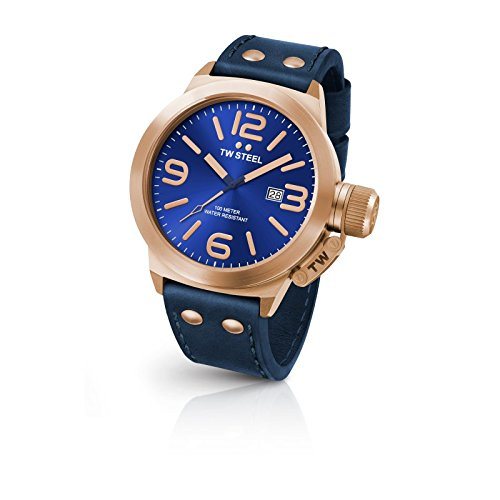 TW-Steel-CS62-Mens-Canteen-Leather-Blue-Dial-Blue-Strap-Quartz-Watch