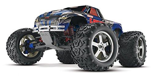 Traxxas T-Maxx 3.3: 1 10 Scale Nitro-Powered 4WD Monster Truck with TQi 2.4GHz Radio and TSM - Blue