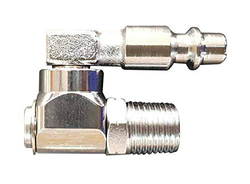100/% Leak Proof for Air Tool Inlets GEC A+ MAX SP720-14M2 All Steel Industrial Pneumatic Swivel Fitting One or Two Pack Available 360 Degrees