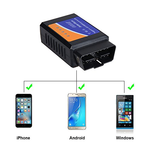 AOKEN WiFi OBD2 Scanner,Wireless OBDII Car Code Reader Adapter diagnostic Scan Tool Check Engine for IOS & Android Device by AOKEN (Image #3)