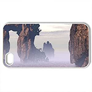 delicate rocks - Case Cover for iPhone 4 and 4s (Deserts Series, Watercolor style, White)