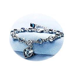 Women's Birthstone Charm Crystal Bracelet