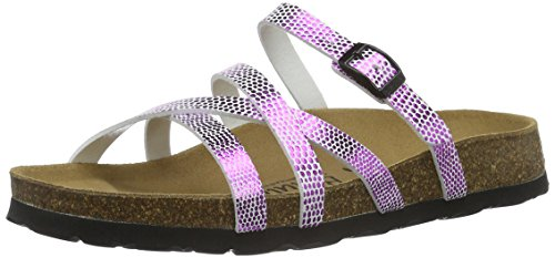 Cross Metal Rose bf Mules Pink Buckle Betula Snake Stripes Femme X8OUUn