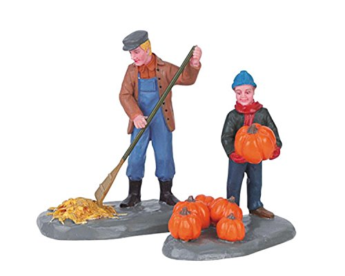 Lemax Harvest Crossing Village Harvest Clean-Up 2-Piece Set #62245 by Lemax