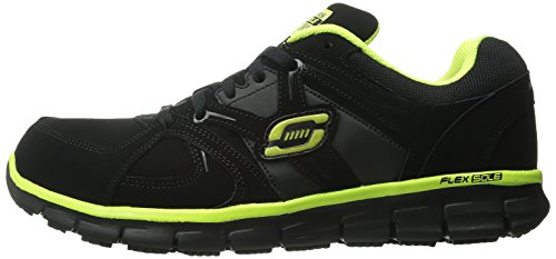 Skechers for Work Men's Synergy Ekron Work Shoe,Black/Lime,11 W US by Skechers (Image #5)