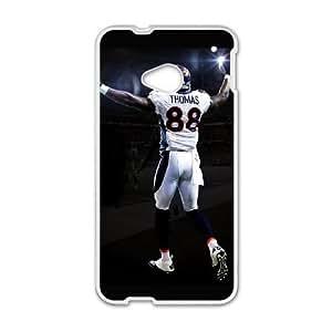 Denver Broncos HTC One M7 Cell Phone Case White SVD_545597