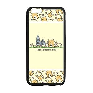 At-Baby Cute Cartoon Phone Case Kitty In The Garden Pattern Iphone 6 Plus 5.5 inch Case Cover (Laser Technology)