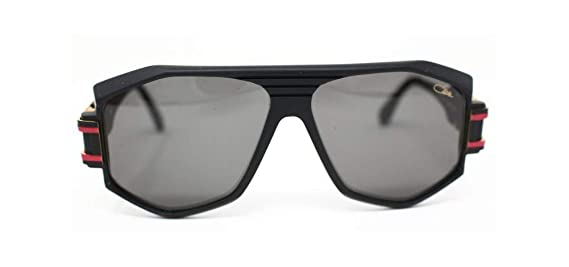 58749889c3 Amazon.com  Cazal 163 302 Sunglasses 011SG Matte Black-Red   Grey Gradient  Lens 59 mm  Cazal  Clothing