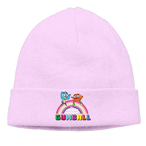 EWIED Men's&Women's The Amazing World Of Gumball Patch Beanie Hip-HopPink Cap Hat For Autumn And - Gucci Toronto In