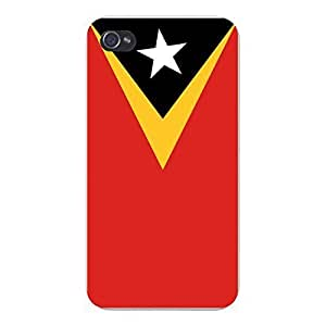 Apple iPhone Custom Case 5 / 5S White Plastic Snap On - World Country National Flags - East Timor