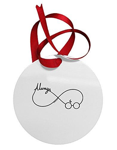 TooLoud Always Infinity Symbol Circular Metal Ornament (For Christmas Phoenix Trees Sale Az)