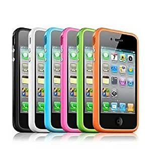 ZCL Solid Color Plastic Frame Side Case for iPhone4/4S , Pink