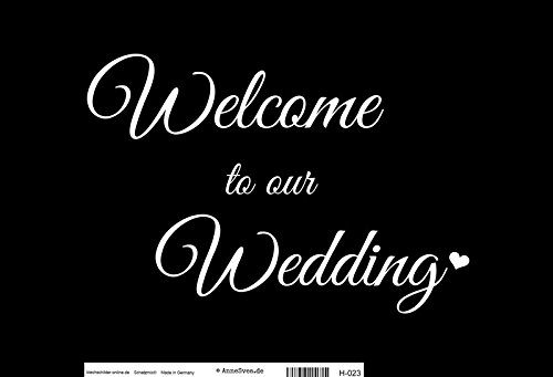 Compra ComCard Welcome to Our Wedding, Negro Blanco Pizarra ...