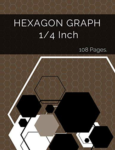Hexagon Graph 1/4 Inch: Hexagonal Paper Is Popular With Gamers Of All Kinds As It Is Ideal For Drawing Game Maps (Kinder Rayban)