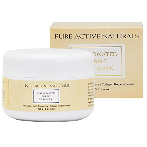 Pure Active Naturals Carbonated Bubble Clay Mask - Anti Aging - Anti Inflammatory - Collagen Boosting - White Clay - Witch Hazel - Shea Butter Witch Bubble
