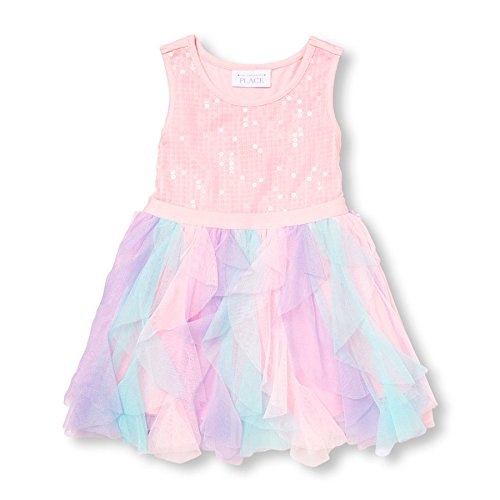 The Children's Place Baby Girls' Sweet Li'l Fancy Dress, Shell, 18-24 Months (Toddler Fancy Dress)