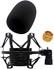 AT2020 Foam Windscreen by VocalBeat - The Perfect Pop Filter for Your Audio Technica Microphone - Made from Quality Sponge Material that Filter Unwanted Recording Noises