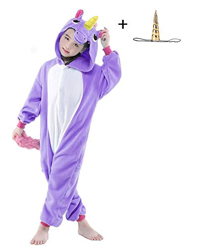 "Children's Pajamas Animal One Piece Halloween Cosplay Costume Kids Sleepwear Jumpsuit (Color F, 115(XL) height47""-51"") ()"