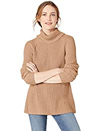 Amazon Brand - Goodthreads Women's Cotton Shaker Stitch Turtleneck Sweater