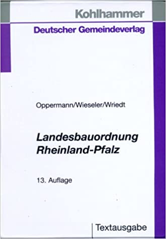 Landesbauordnung Rheinland Pfalz Bd 1 Textausgabe Mit
