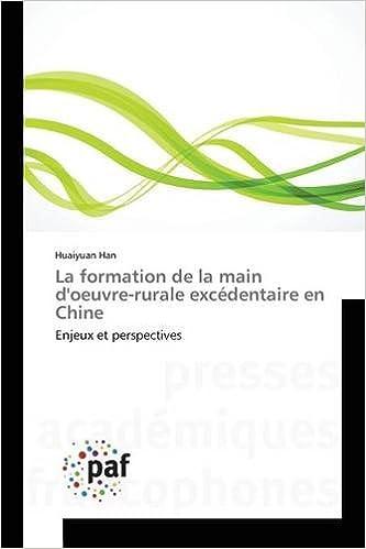 La Formation de La Main D'Oeuvre-Rurale Excedentaire En Chine pdf, epub