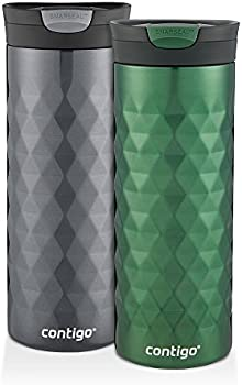 2-Pk. Contigo SnapSeal Kenton Travel Mugs 16oz