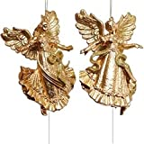 LARK001 12pc GOLD 6'' GD GLT DANCE ANGEL X2 HANGER - GOLD