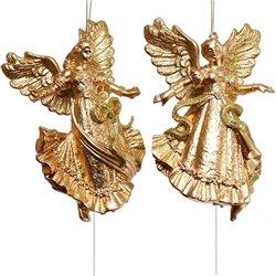 LARK001 12pc GOLD 6'' GD GLT DANCE ANGEL X2 HANGER - GOLD