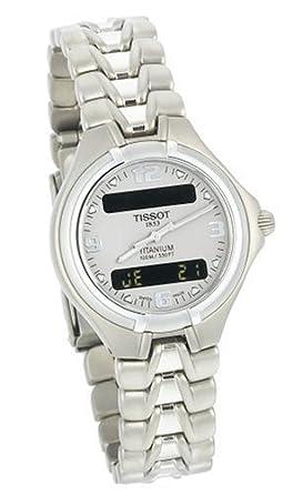 amazon com tissot women s t65718831 titanium chronograph watch rh amazon com Tissot Titanium Date and Day Tissot PRC100 Titanium