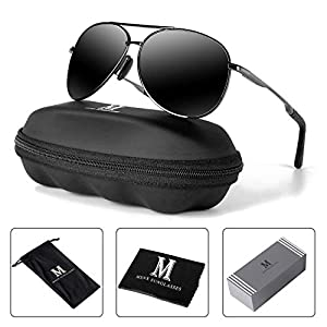 Aviator Sunglasses for Men Polarized Women -MXNX UV Protection Lightweight Driving Fishing Sports Mens Sunglasses MX208