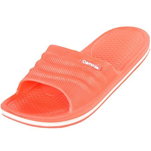 Cammie Women's Comfort Slip On Coral Slide Sandals 10 B(M) US