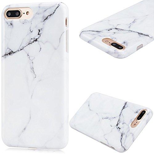 8 x Coque iPhone 7 Plus (5.5 pouce) , Marbre TPU Case Silicone Slim Souple Étui de Protection Flexible Soft Cover Anti Choc Ultra Mince Integrale Couverture Motif Design Bumper Caoutchouc Gel Anfire H