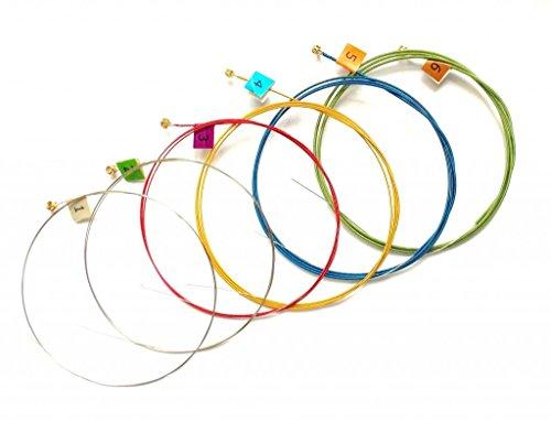 Generic Multi Colored Acoustic Guitar Strings Set 11-52 Hexa